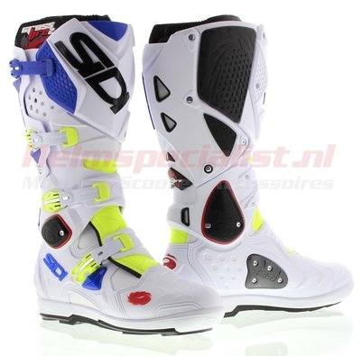 Sidi Crossfire 2 SRS Offroad Boots Yellow White Blue