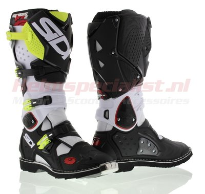 Sidi Crossfire 2 Offroad Boots White Black Yellow