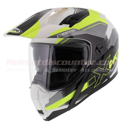 Caberg Xtrace Spark white anthracite yellow fluo