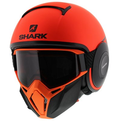 Shark Street Drak Neon Serie - Matt Orange Black
