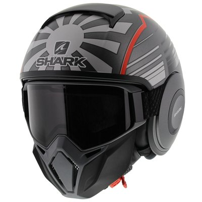 Shark Street Drak Zarco Malaysia GP Matt Anthracite Red