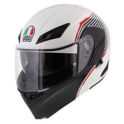AGV Compact ST Vermont Wit Zwart Rood
