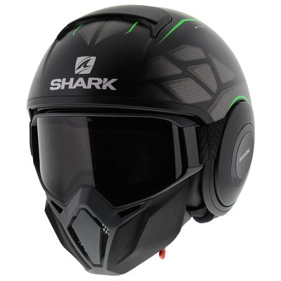 Shark Street Drak Hurok Matt Black Green
