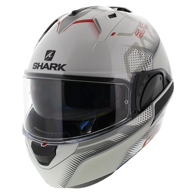 Shark Evo-One 2 Keenser White Silver Red
