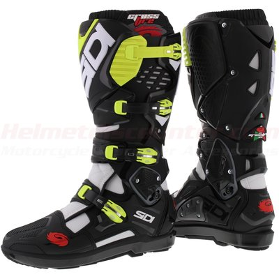 Sidi Crossfire 3 SRS White Black Yellow Fluo