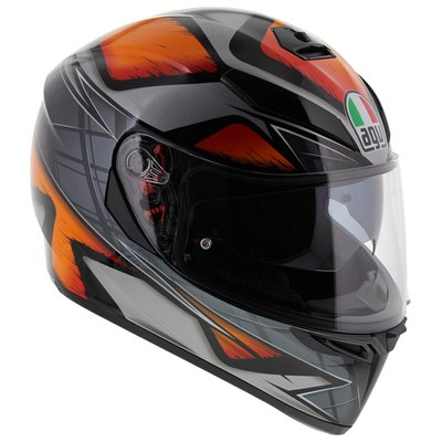 AGV K3 SV Liquefy Gloss Black Orange