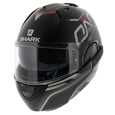 Shark Evo-One 2 Keenser Matt Black Silver Red