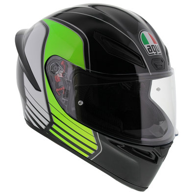 AGV K1 Power Gunmetal White Green