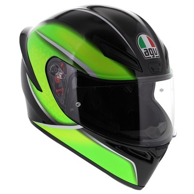 AGV K1 Qualify Black Lime