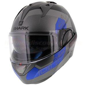 Shark Evo-One 2 Slasher matt anthracite black blue