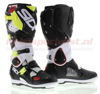 Sidi Crossfire 2 SRS Offroad Boots White Black Yellow